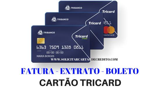 Saldo - Extrato - Boleto e Fatura Cartão Tricard - www.tricard.com.br