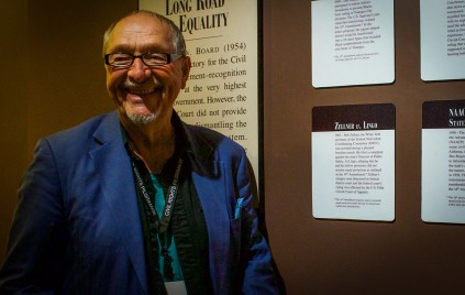 We had the privilege of traveling with Mr. Bob Zellner, who was a Field Secretary for SNCC. Zellner is still active in the fight for social justice. (Photo by Nathan Bean)