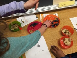 4th & 5th graders share healthy toppings for their banana ice cream.