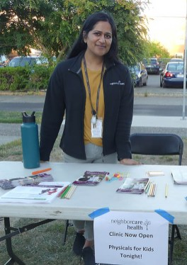 Neighborcare Health offered free physicals for kids at the event!