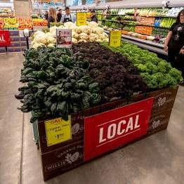 Whole Foods Market dark leafy greens display