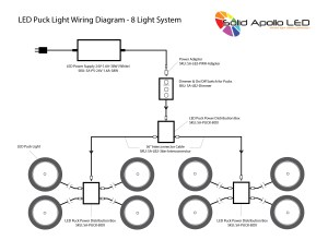 Warm White Premium LED Puck Light Nickel Body