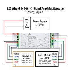 rgb wiring diagram led wizard rgb signal amplifier repeater [ 1650 x 1650 Pixel ]