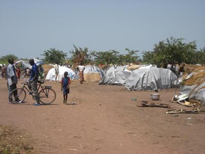 Camp de populations déplacées en interne à Kabo