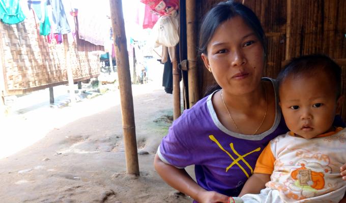 femme enfant myanmar
