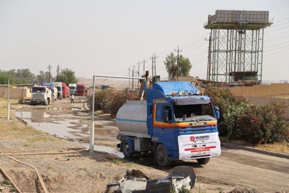 water trucking mosul
