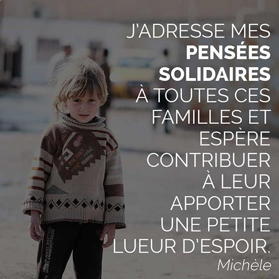 message solidarites international