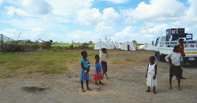 tica camp déplacés mozambique