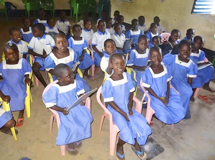 South Sudanese kids in school
