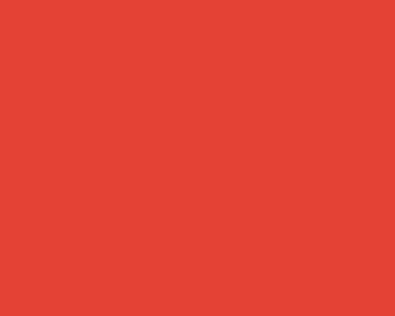 1280x1024 Vermilion Cinnabar Solid Color Background