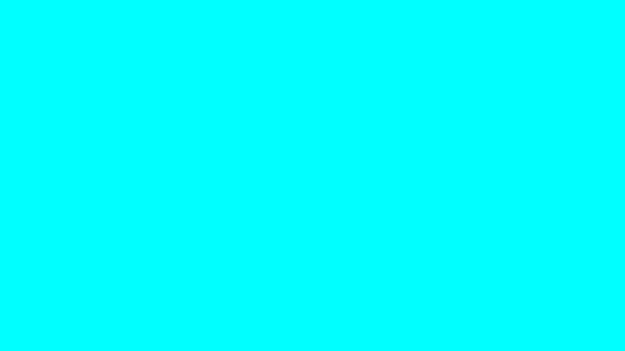 1280x720 Electric Cyan Solid Color Background