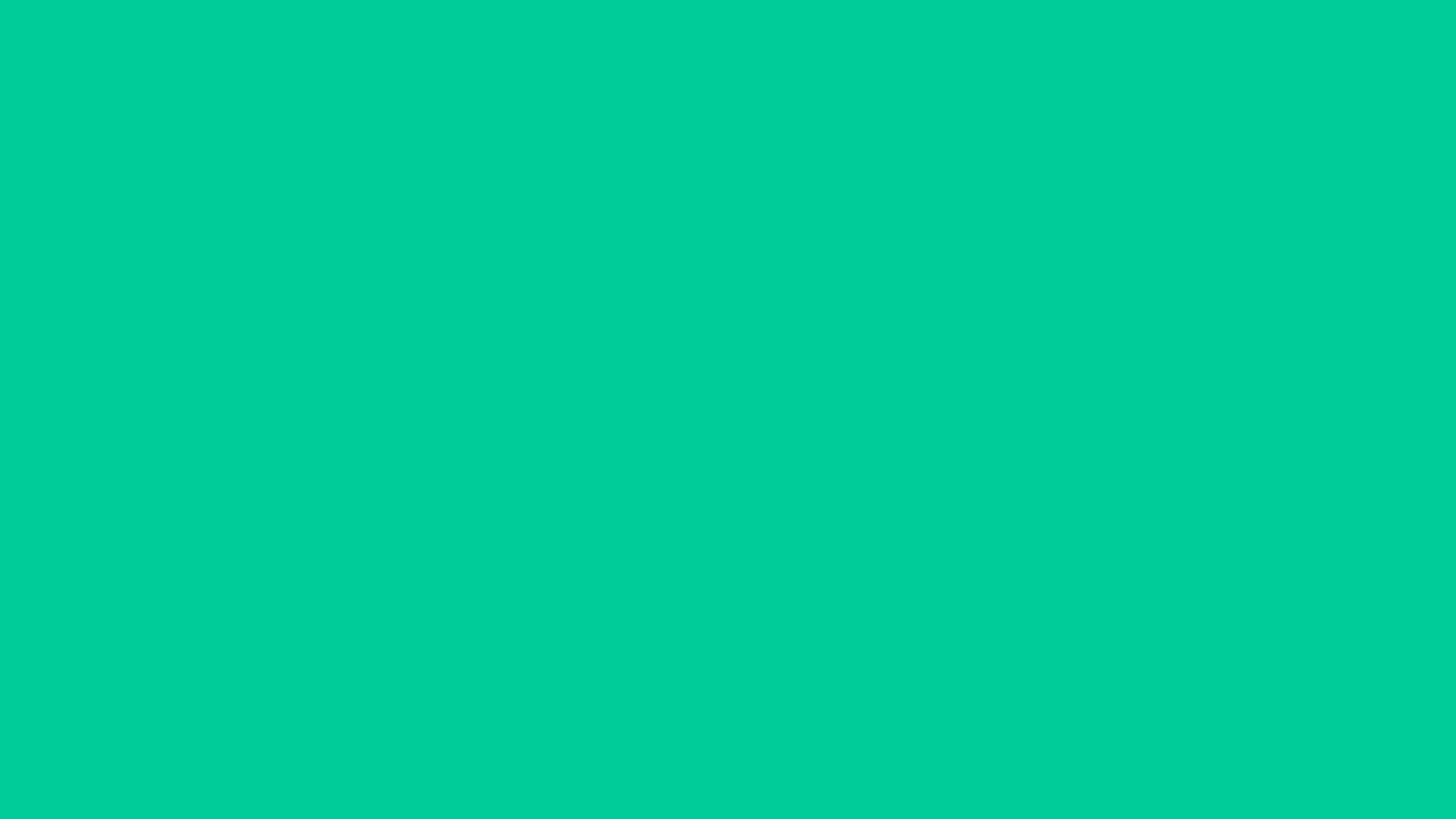2560x1440 Caribbean Green Solid Color Background