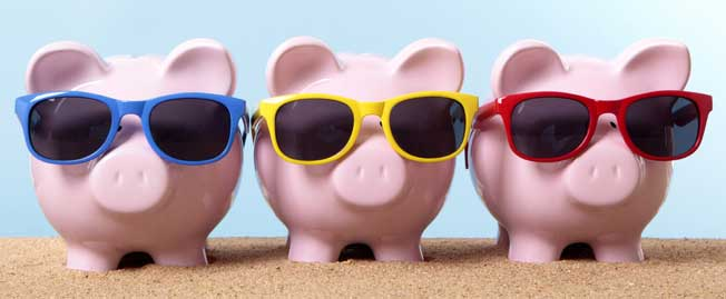 3 pigs with shades
