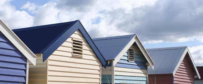 houses line up horizontal