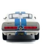 Shelby Gt500 Wimbledon White Blue Stripes 1967 Solido