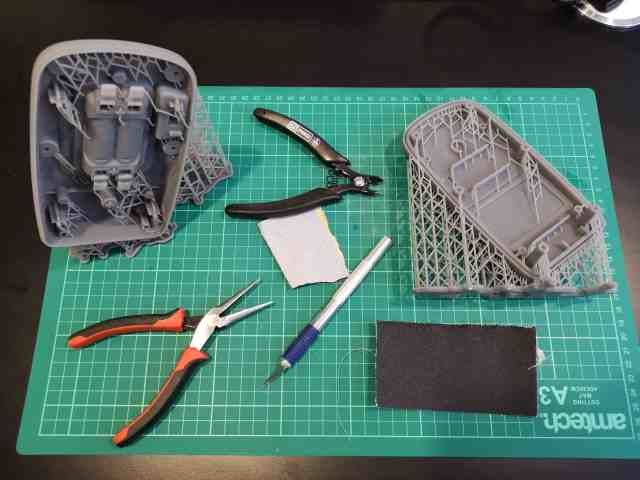 finishing the 3D printed injection mould