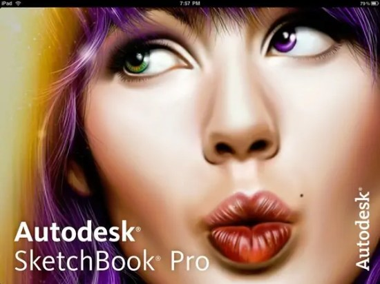 The Sketchbook Pro for iPad splashscreen? or something to make people talk?