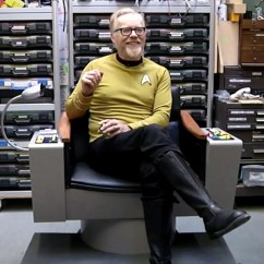 Star Trek Captains Chair Best Toddler For Kitchen Table Adam Savage Builds A Functioning Captain 39s