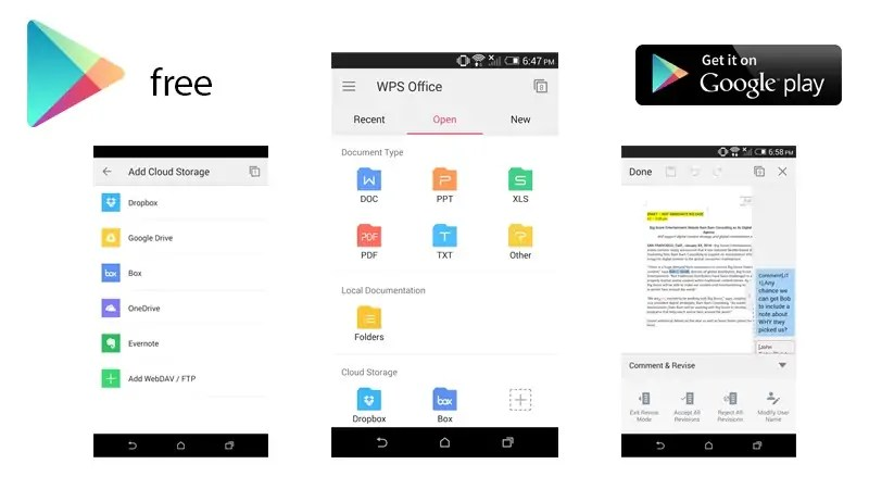 this means when you use wps office to open a document from your email or favorite cloud service you can be sure it will look exactly the way it would on