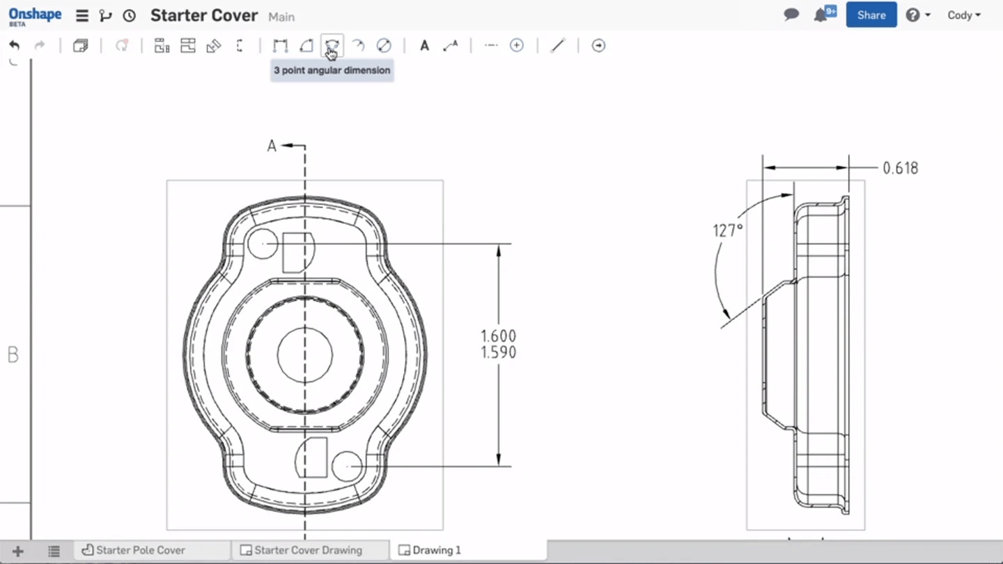 onshape introduces drawings on their web