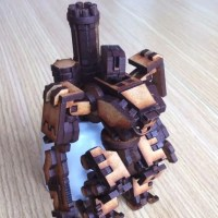 Model of the Week: Lasercut Battle Robot [Brzz Beep Boop Wrzztl!]