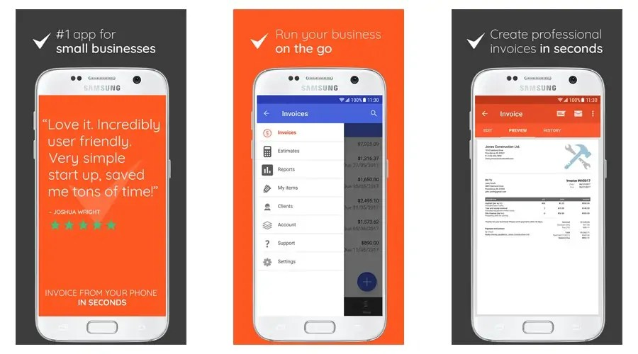 App Smack Flyright Manifest Brightmind And More - Simple invoice app for android