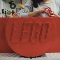 Watch a Giant LEGO 2×4 Get Built From 133,000 Bricks