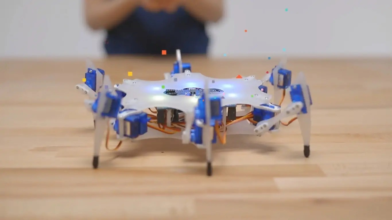 Building Robots is Fun with the Six-Legged STEMI Hexapod
