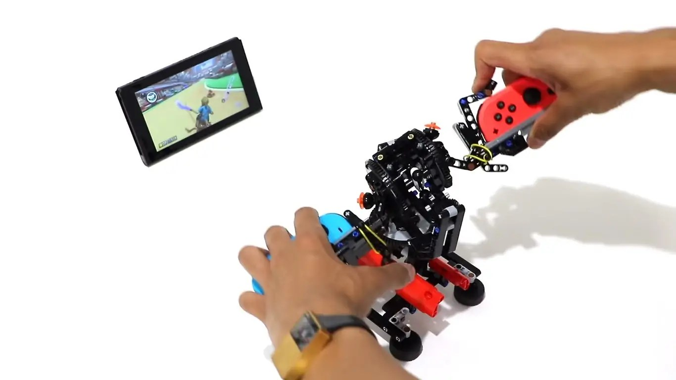 a lego designer went loose on a nintendo switch labo