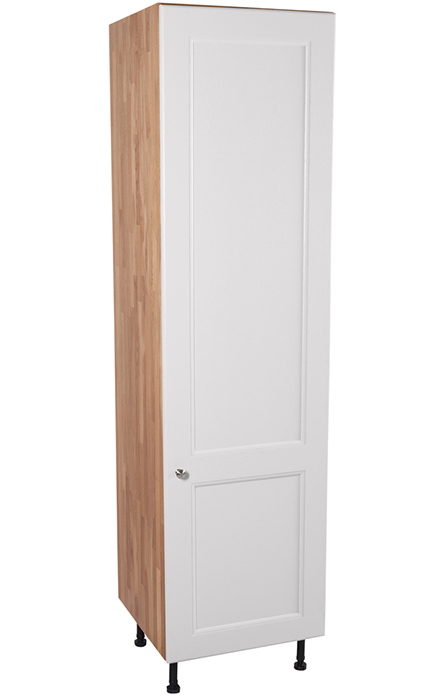 flat front kitchen cabinets door pulls tall larder units & storage - solid wood ...
