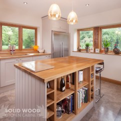 Oak Kitchen Islands Exhaust Fan How To Create A Island With Solid Cabinets An End Panels Painted In Elephant S Breath
