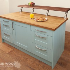 Oak Kitchen Islands Decorative Accessories How To Create A Island With Solid Cabinets An Painted In Blue Ground