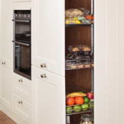 Kitchen Block Double Sink With Drainboard Tall Larder Units & Storage Cabinets - Solid Wood ...