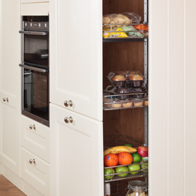 oak cabinet kitchen outside island tall larder units & storage cabinets - solid wood ...