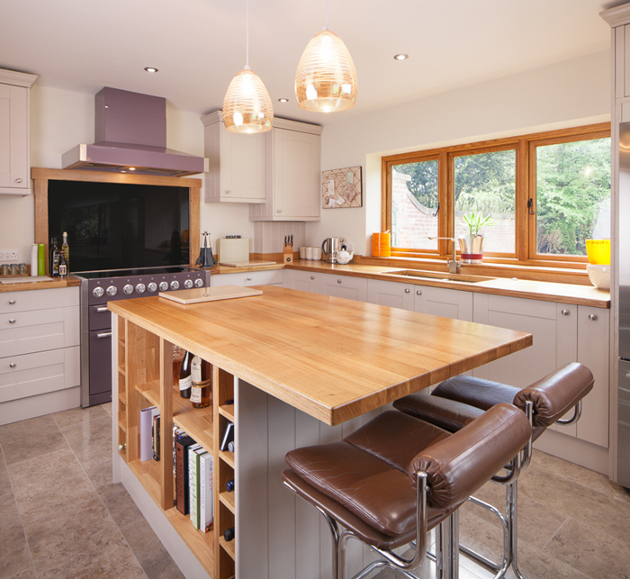 kitchen breakfast bars small renovation stylish in solid wood kitchens our top five table a section of worktop overhang may not need bar legs at all