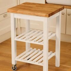 Oak Kitchen Cart Pendants Island Trolley Wooden Solid Wood Painted With Worktop