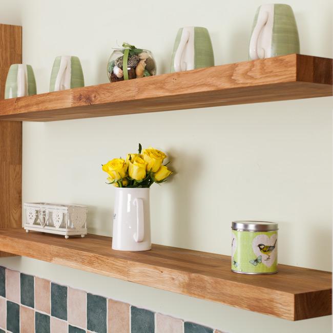 kitchen shelf ikea cabinet handles oak floating shelves solid