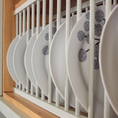 Kitchen Plates Heavy Duty Shears Solid Wood Oak Plate Rack Racks Traditional
