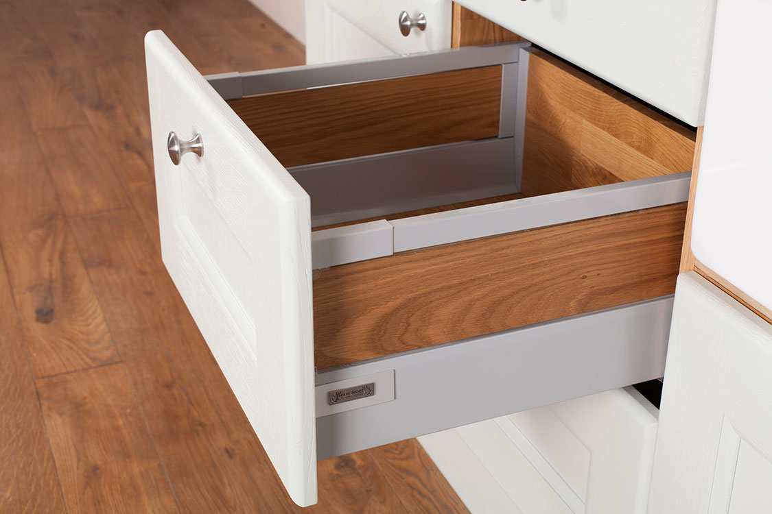 kitchen drawer swag curtains solid oak wood drawers cabinets door and frontals tandembox antaro inserts
