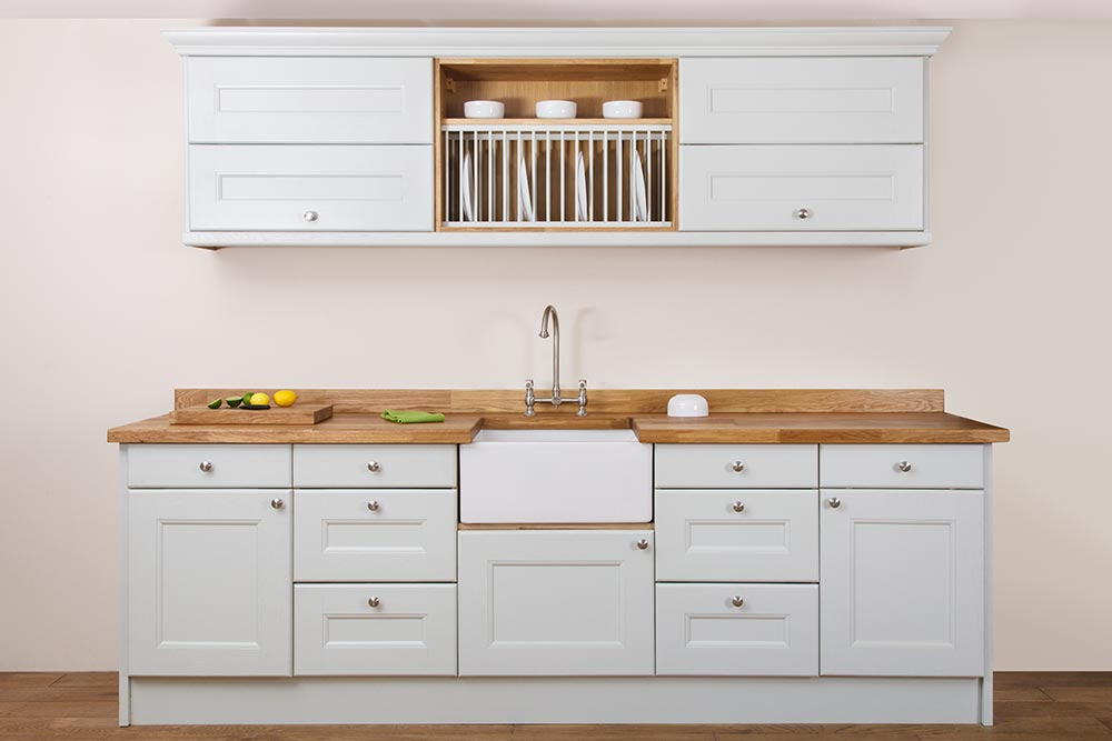 Specialist Solid Oak Kitchen Cabinets in Curved Belfast