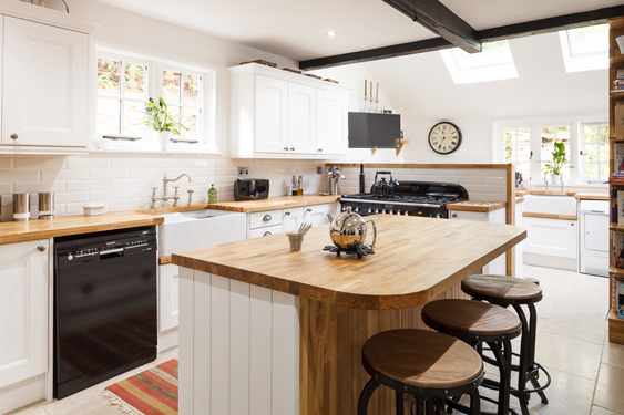 kitchen layout ideas curtains for the a guide to open plan and broken solid raised area behind stove in this traditional imitates half wall hides