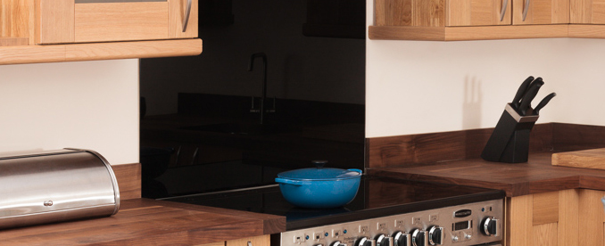 kitchen cabinets for cheap kohler faucets coloured glass & stainless steel splashbacks kitchens ...