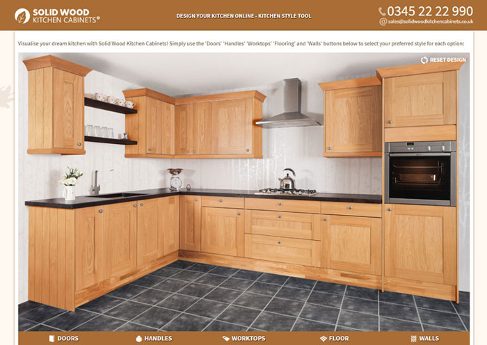 oak kitchen cabinet chair seat cushions solid wood cabinets from style tool user interface