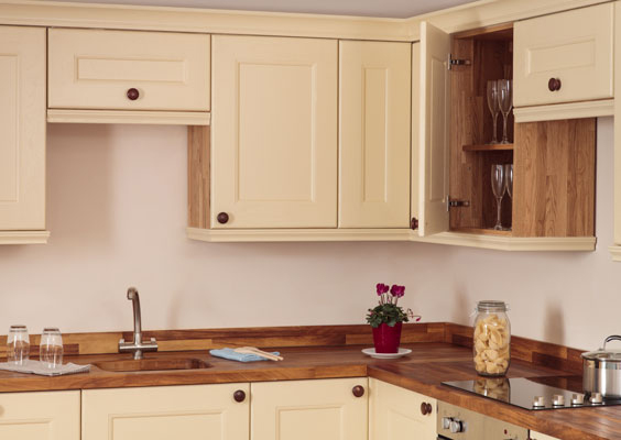 oak kitchen cabinet aid range solid wood cabinets from wall