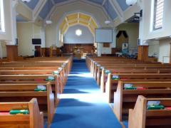 The original oak pews – the wood was not wasted but used to make cupboards and other furniture