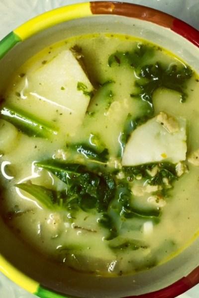 Easy One Pot Vegan Zuppa Toscana