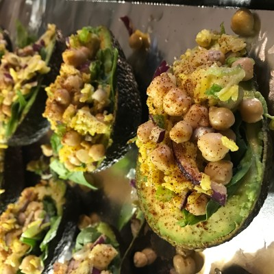 Chickpea and Rice Stuffed Avocado