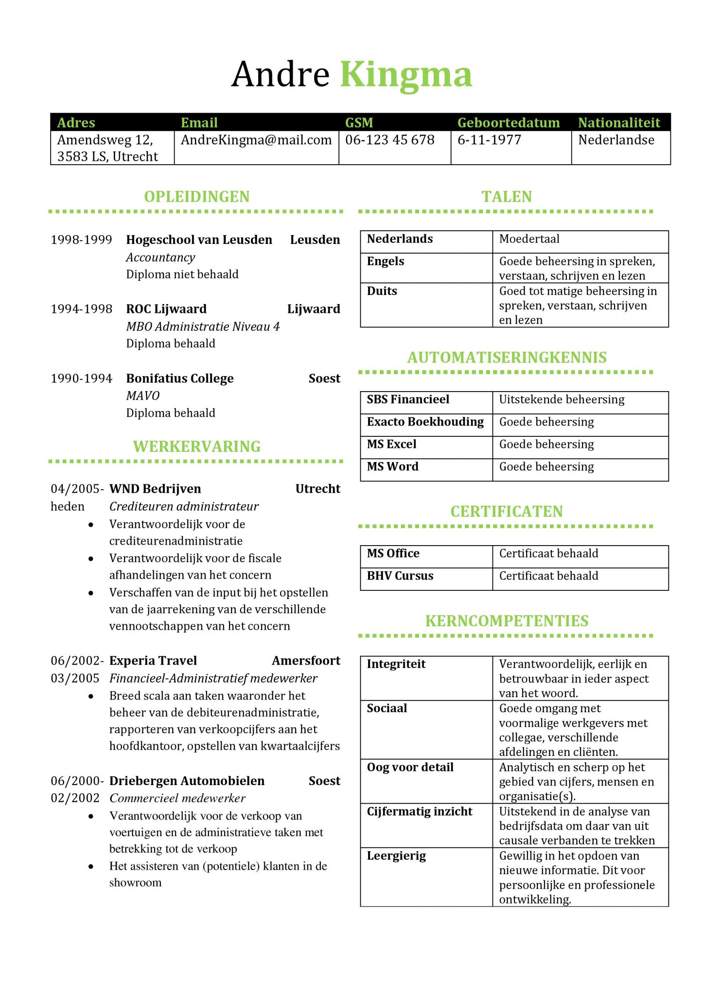 Gratis cv sjabloon voorbeelden cv templates sjablonen in word unieke cv sjabloon gratis te downloaden en bewerken in microsoft word yelopaper Image collections