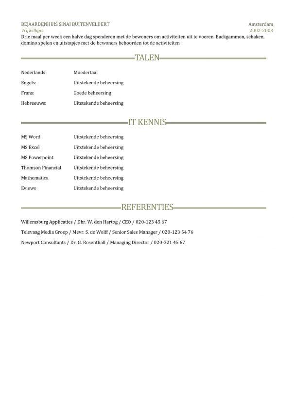 CV Voorbeeld Sheffield 2/2, pagina 2, gratis cv, gray clean, professioneel