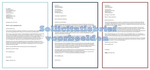 Sollicitatiebrieven | GRATIS Voorbeelden | Motivatiebrief en